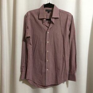 Saks Fifth Avenue Button Front Shirt Slim Fit
